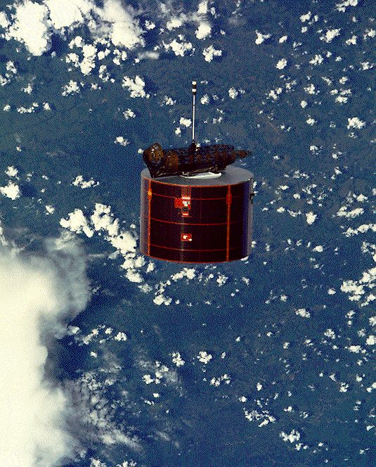 Leasat in Low Earth Orbit