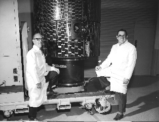 "Roland Boucher and ""Gus"" Gustavson With the ATS Prototype."